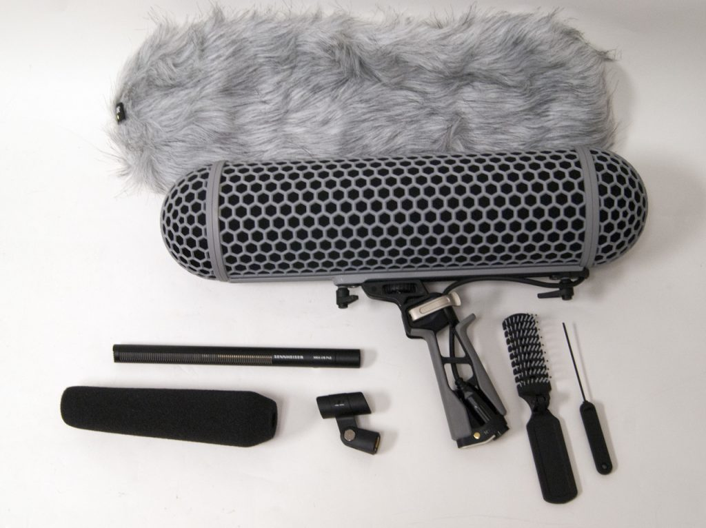sennheiser shotgun mic with accessories