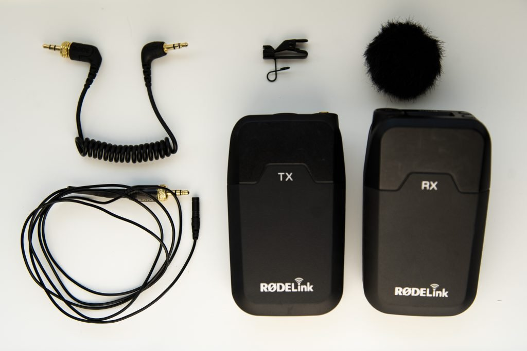 rodelink wireless filmmaker kit what's in the box